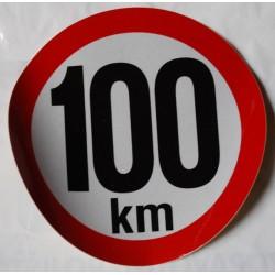 Omezení rychlosi 100km, retroreflexní, průměr 150mm (na přívěsy)