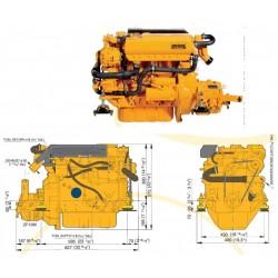 Motor M4.17 VETUS 42 HP