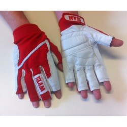 SLAM 3/4 prstové rukavice, červená