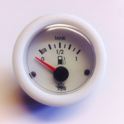 Budík - palivoměr bílý 10/180Ohm