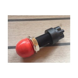 Tlačítkový spínač - červený