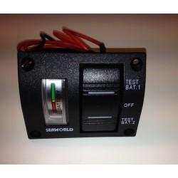 Kontrolní panel pro 2 baterie