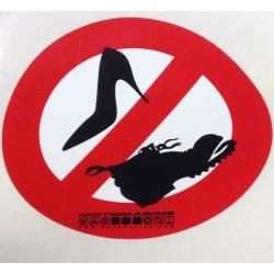 """Samolepka """"Zákaz vstupu v obuvi"""""""