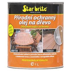 Přírodní ochranný olej na dřevo 950 ml