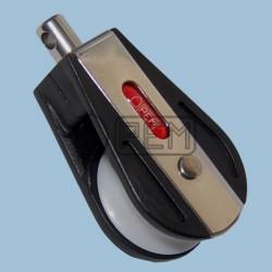 Jednoduchá kladka 30/6-8/180 s čepem a s kuličkovým ložiskem