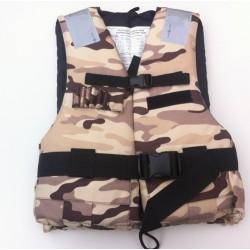 Plovací vesta 50N standard rybářská, maskování pískové