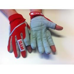 SLAM celoprstové rukavice, červené