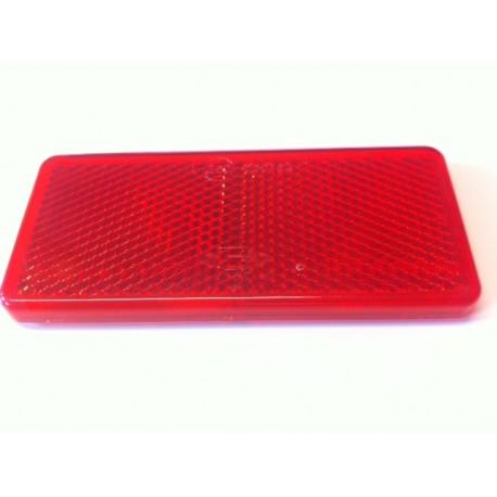 Odrazka 90 x 40 mm, obdelník, červená
