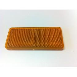 Odrazka 90 x 40 mm, obdelník, oranžová