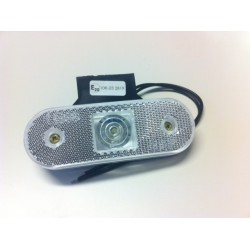 Svítilna přední obrysová W47 LED, 12-24V, s odrazkou, na držáku