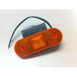 Svítilna boční (oranžová) obrysová LED WAS W47, 12-24V, s odrazkou, na držáku