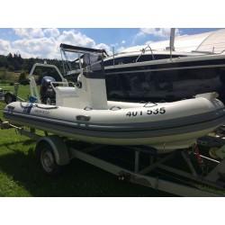 Gumový člun Highfield 420 + Suzuki 50