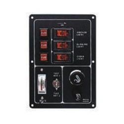 Panel 3 + test baterie a zapalovač