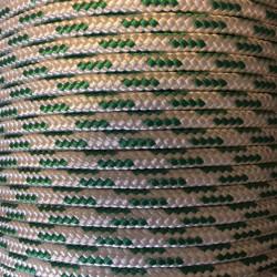 PES 8mm bílá se zelenou